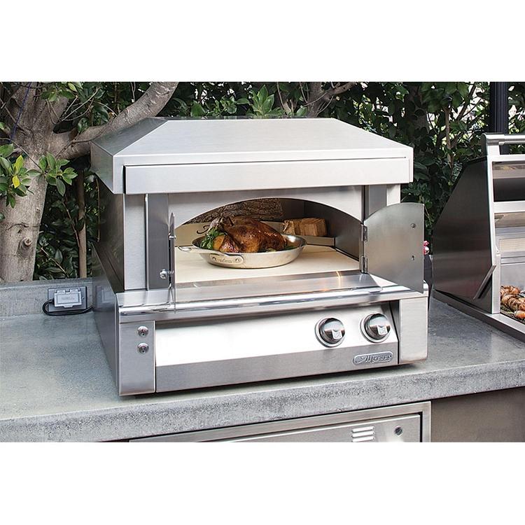 Alfresco 30 Inch Natural Gas Countertop Pizza Oven Plus